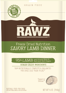 Rawz freeze dried dog food