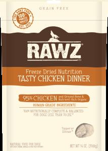 rawz freeze dried dog food chicken